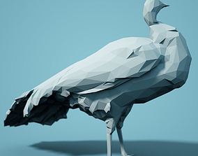 zoology Low Poly Peacock Model