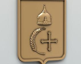 Coat of arms of Sumy region Ukraine 3D model