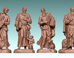 The Four Evangelist - CNC Rounting - 3D printable model 5