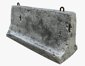 Concrete Barrier battlefield 3D model