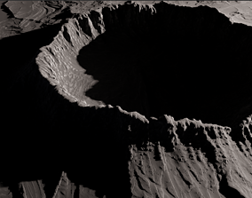 map Asteroid crater - 8k 3D model
