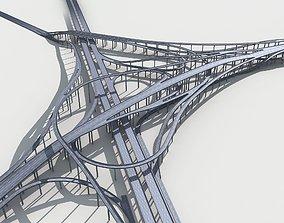 Highway Viaduct flyover 3D model-3 street