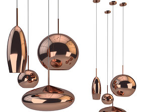 Copper Tall Pendant 3D model