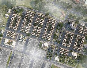 3D asset Neighborhood Houses 04