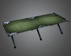 3D asset MLT - Military Portable Field Cot Bed - PBR Game