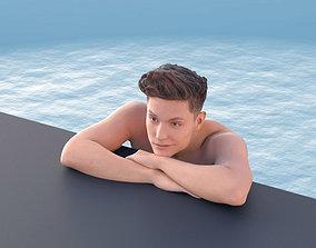 3D model Dan 10483 - Man Chilling at the Pool
