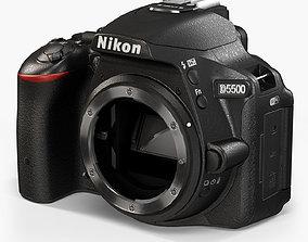 3D model Nikon D5500 DSLR camera