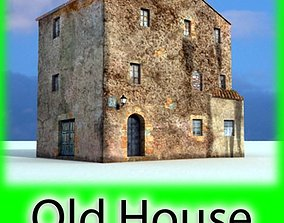 3D Old European House Detailed Realistic