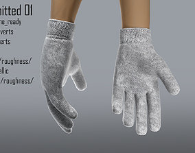 3D model Glove knitted 01