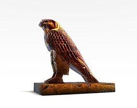 3D asset Egyptian Hawk Horus God bird