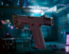 Cyberpunk Gun 3D asset
