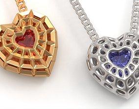 3D print model Beautiful bionic hearts pendant