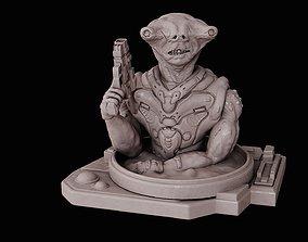 3D printable model Alien bounty hunter bust high