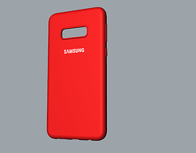 Samsung Galaxy S10e red case 3D print model