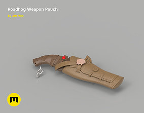 Roadhog back weapon in a weapon pouch 3D print