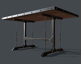 3D asset Industrial Style Dining Table for PBR Challenge 1