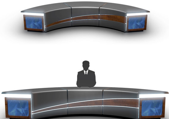 3D TV Studio News Desk 4