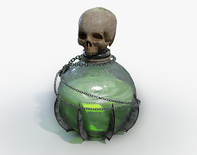 3D model Lowpoly Poison Potion Bottle