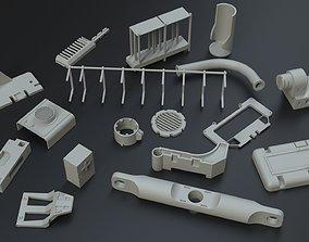3D kitbash vol one Sci fi part
