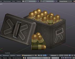 3D asset Grenades Cartridges Low poly