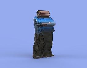 Human glitch 3D model