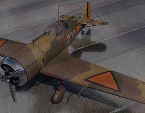 single-seat Fokker D-XXI - D-21 - Dutch 3D