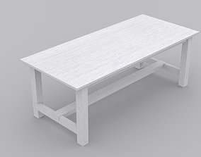 Table and chair 3D asset game-ready