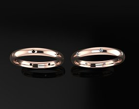 Dainty Infinity Diamond Band Ring and 3D print model 2