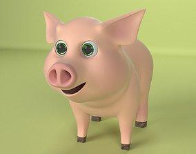 cartoon piglet 3D model