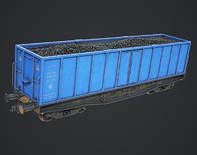 3D model PBR Railway Cargo Wagon