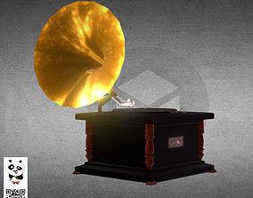 3D The gramophone