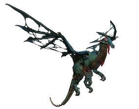 Fantasy Zombie Dragon 3D asset