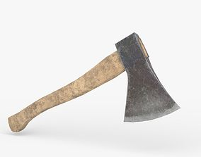 3D model Old dirty Axe