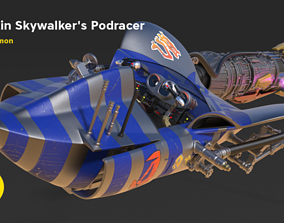 3D printable model Anakin Skywalkers Podracer