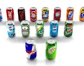 3D model 15 Cans Pack