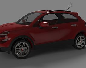 Fiat 500 x 3D asset