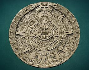 antique Aztec calendar 3D print model