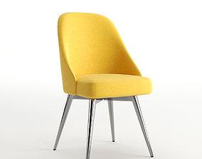 Mid-Century Swivel Office Chair - Velvet 3D asset