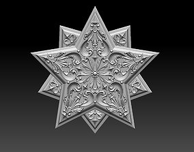 star snowflake 3D printable model