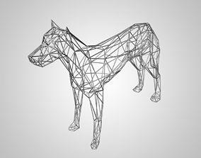 3D model of dog skeleton