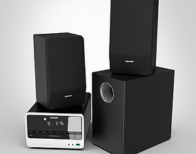 Philips Micro Theater Audio System 3D model