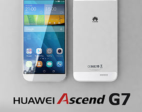 3D model Huawei Ascend G7 White