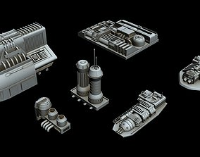 3D model Starship detail collection 1