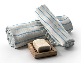 3D model Turkish Bath Towel Marine Style Peshtema