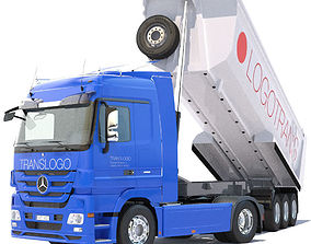 Mercedes Actros Dump Truck 3D