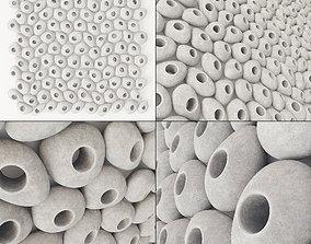 3D Pebble smooth hole tile n1