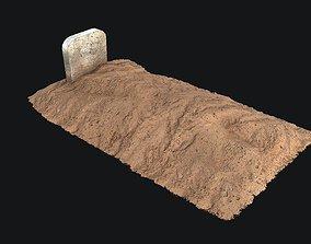 3D asset Grave - PBR Game-ready
