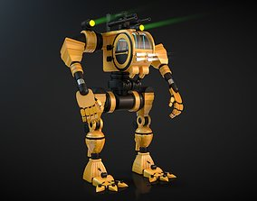 3D model Robot 02 with Cockpit