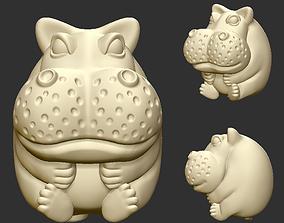 3D print model statue hippo