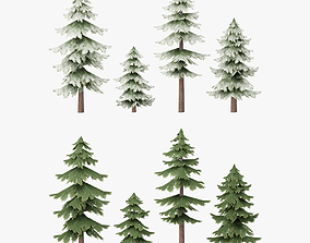 3D asset Tree Pack G15 LOD